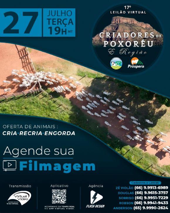 17º Leilão Virtual Criadores de Poxoréu e Região