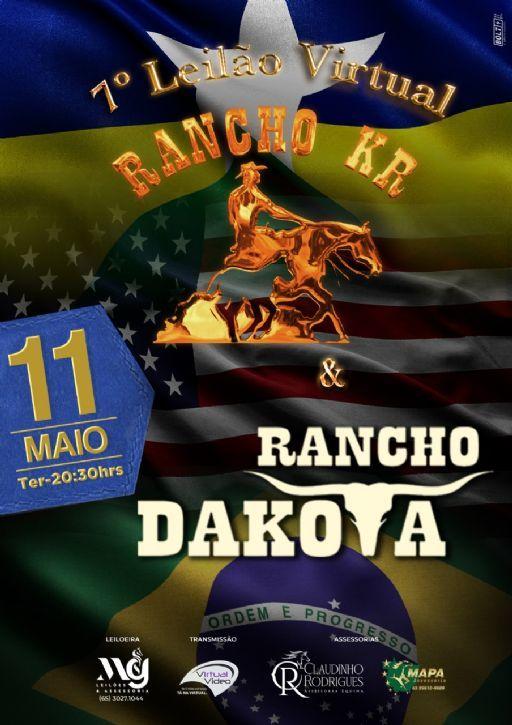 7º Leilão Virtual Rancho Kr e Rancho Dakota