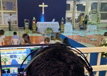 Celebração eucarística da primeira eucaristia 17-04-21